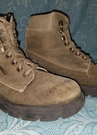 Брендові черевики дитячі richter sympatex 33 [австрія] 22 см (ботинки детские замшевые)