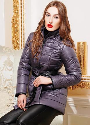 Пальто пуховик куртка на силиконе
