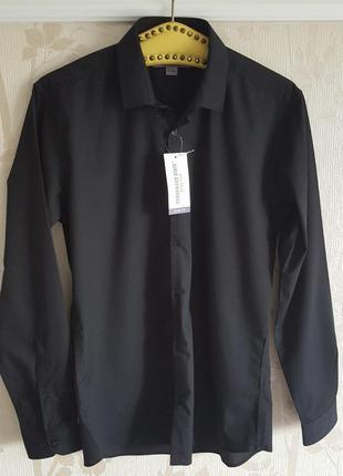 Черная стильная рубашка cedar wood state