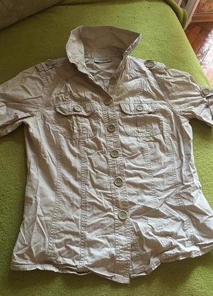 Красивая котоновая рубашка clockhouse