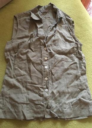Льняная рубашка marks&spencer