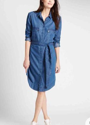 Джинсовое платье рубашка лиоцелл + котон