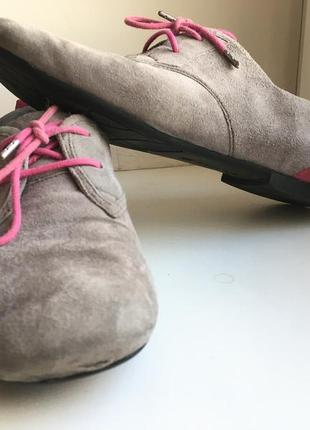 Замшевые туфли на низком ходу ecco