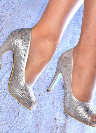 Серебряные туфельки krasceva р.41