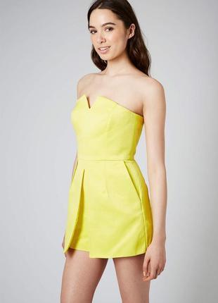 Комбинезон topshop ромпер лимонный платье