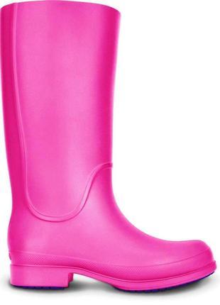 Розовые,резиновые,легкие сапоги, crocs 37 размер