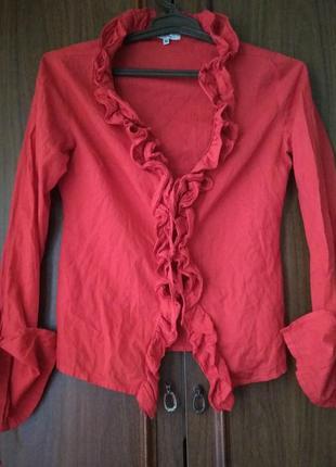 Блуза-накидка ole на завязках с длинным рукавом