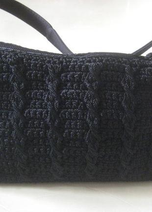 Эксклюзивная маленькая  плетеная сумочка