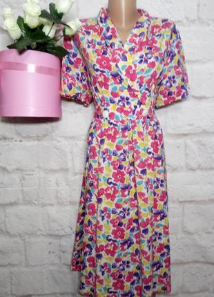 Платье миди натуральная вискоза р 18