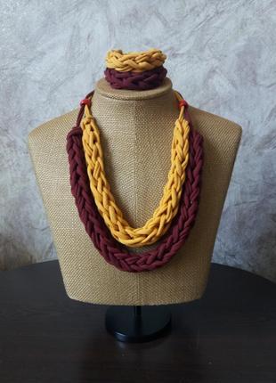 Колье з браслетом /украшение на шею чокер подвеска ожерелье бижутерия ручная работа/