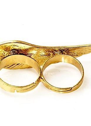 Оригинальное кольцо на 2 пальца крыло4 фото