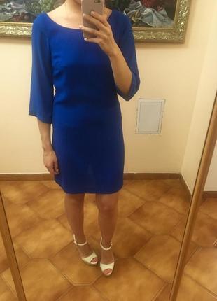 Синее легкое платье oasis