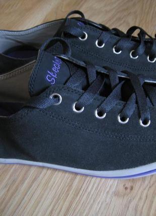 Новые кожаные кеды, кроссовки skechers!!!