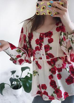 Розпродаж!! легка вільна блуза сорочка блуза на лето розлетайка м l женская одежда украина