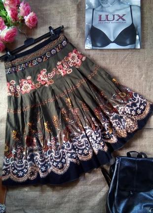 Стильная юбка миди в складку