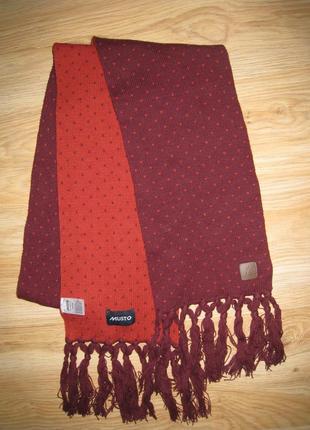 Крутой фирменный шарф musto, 100% оригинал!