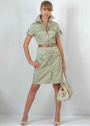Платье-рубашка#сафари от mango, p.l