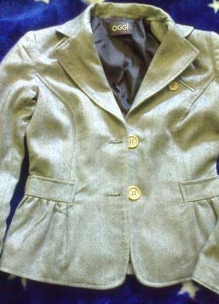 Стильный серый пиджак жакет oodji