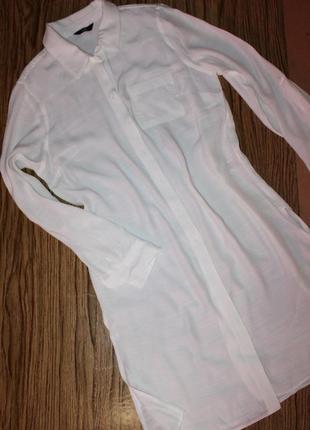 Длинная рубашка размер 14