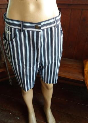 Стильные шорты в полоску котон размер 44