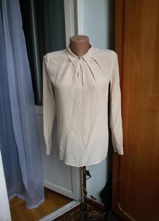 Шелковая рубашка / блуза hallhuber 100% шелк