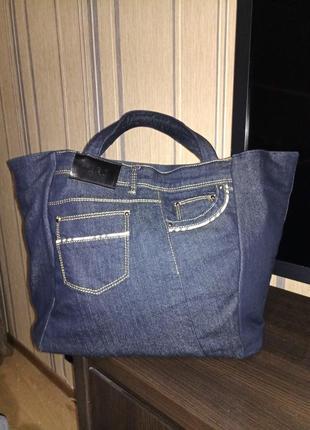 Дизайнерская джинсовая сумка оригинал