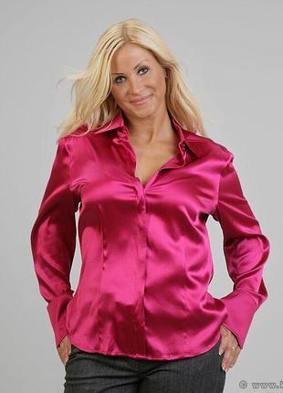 Красивая атласная блуза,стрейч