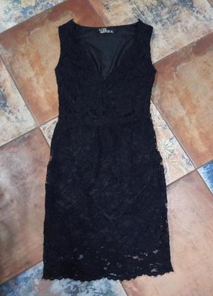 Гипюровое короткое платье