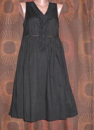 Класное черное платье, хлопок