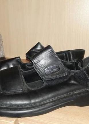 Оригинальные кожаные шлепки сланцы сандали сабо rieker ecco