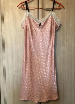Новый розовый фактурный пеньюар george 10-12p