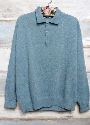 Винтажный шерстяной свитер джемпер alberto aspesi