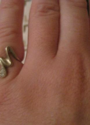 Кольцо серебро 13 размер