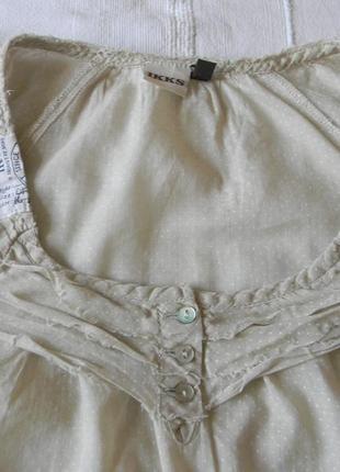 Хлопковая блузка в горошек ikks p.m