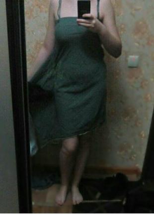 Потрясающее хлопковое платье - то,что нужно в жаркое лето!
