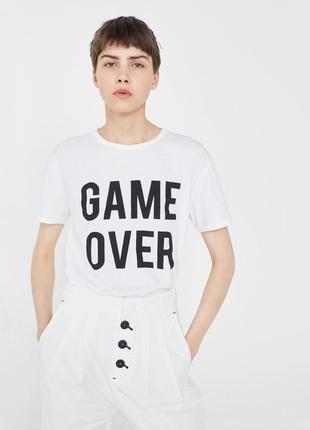 Топ mango 36/s футболка game over