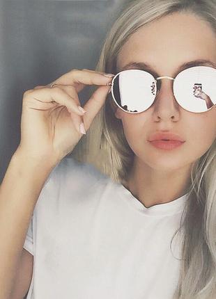 Скидка!новые, стильные, трендовые,модные,солнцезащитные очки,ретро,зеркальные,мода 2018