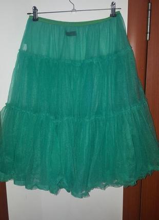 Крутая фатиновая пышненькая миди юбка от spazm paris