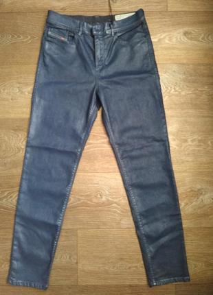 Классные темно-синие джинсы  diesel highkee slim-skinny 0807v