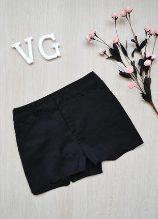 Короткие черные шорты h&m divided