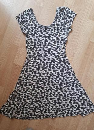 Платье леопард принт