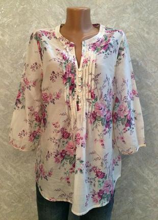 Блуза в цветы marks&spencer