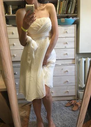 Нежнейшее шелковое свадебное миди платье 10-12 coast asos