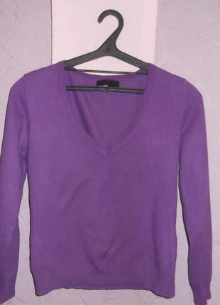 Джемпер ярко фиолетового цвета