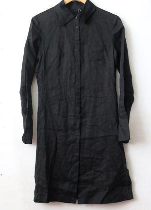 Платье рубашка mango mng 100% рами- экоткань