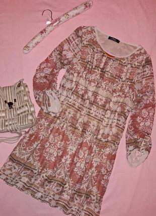 Распродажа стильных летних платьев. платье миди ажурный принт.