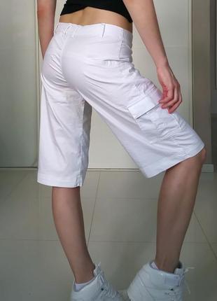 Белые шорты карго до колен nike оригинал m-l