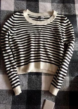 Полосатый свитер / кофта h&m