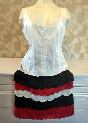 Летняя льняная юбка