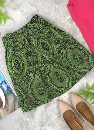 Короткая пышная юбка на поясе с стильным принтом   kl1826153  topshop